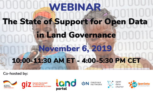 Webinar_The State of Support for Open Data in Land Governance